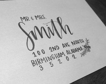 Hand Written Envelopes- Calligraphy Wedding Invitation Envelope- Hand Lettered- CUSTOM