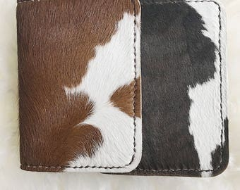 Handmade Calfskin Leather Passport Wallet