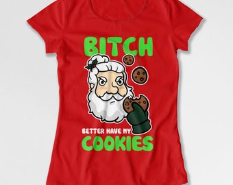 Funny Christmas T Shirt Holiday Gifts Santa Claus Red Christmas Shirt Xmas Present Christmas Clothing Holiday Clothes Merry Xmas TEP-530