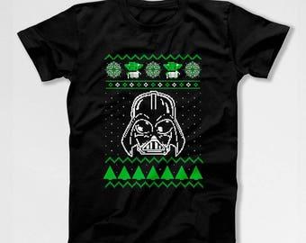 Ugly Xmas Shirt Christmas T Shirt Holiday Present For Men Xmas Gift Ideas Christmas Clothing Holiday Clothes Movie TShirt X-Mas TEP-539