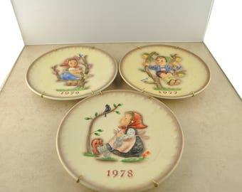 1976, 1977, 1978 Annual Hummel Decorative Plates