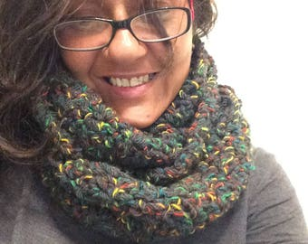 woven circular scarf