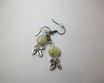 Serpentine with Holly charm earrings