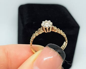 sold*sold out*Vintage gold diamond engagement ring*MASSIVE SALE* diamond solitaire ring solid gold 9k ring anniversary ring