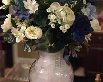 Wedding Arrangement - something blue and white