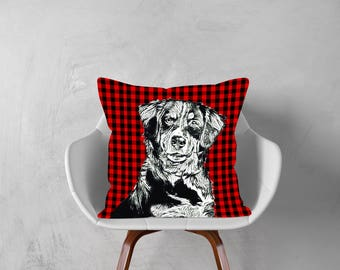 Bernese Mountain Dog,Decorative Pillow, Dog Pillowcase, Personalized Pet, Give Gift of Love this Holiday Season or Just Brag About Your Pet.