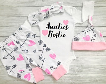 Baby Girl Clothes, Baby Clothes Aunt, Aunties Bestie, Aunties Baby Clothes, Aunties Girl, Baby Girl Clothes Aunt, Auntie Is My Bestie