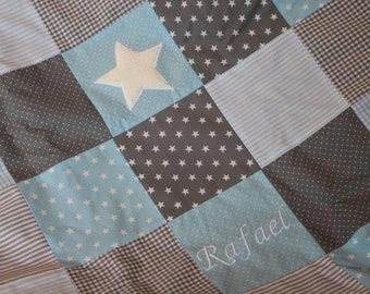Quilt blue personalised with name