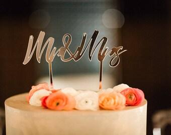 """Cake Topper wedding """"Mr & Mrs"""""""