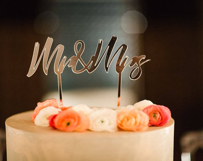 "Cake Topper mariage ""Mr & Mrs"""