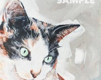 Custom Pet Portrait Painting - 12x12