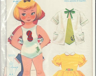 Vintage magnetic paper doll 'Margie'