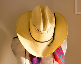 Vintage American Hat Company Bangora Straw Cowboy Hat