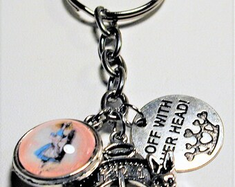 Alice In Wonderland Inspired Charm Key Ring #2