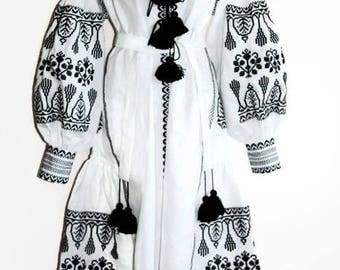 Mexican Embroidery Bohemian Clothing Vishivanka Vyshyvanka Dress Boho Ukrainian Dresses Ethnic Ukraine Chic Nationale Embroidered Dress