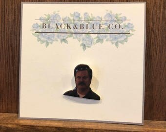 Parks and Recreation Ron Swanson Soft Enamel Pin