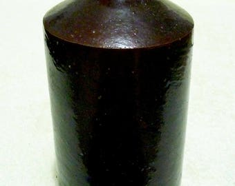 A Large Antique Stoneware Ink Bottle