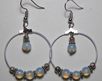 Moon Beads and Hoop Earrings