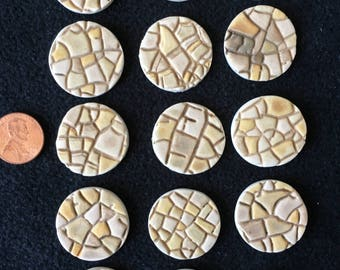 Bases for Miniature Wargaming and RPG Figures for D&D, Warhammer, Wargames, RPG, Boardgames, Wargaming Terrain, Handmade Flagstone Pattern