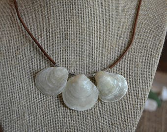 Three shell necklace