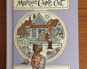 1977, The Marble Cake Cat, by Marjorie and Carl Allen, illustrated by Marylin Hafner, Weekly Reader Books, vintage children's chapter book