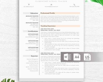 Modern Resume Template, CV Template, Cover Letter, Reference Letter for Word, Instant Digital Download, Mac or PC