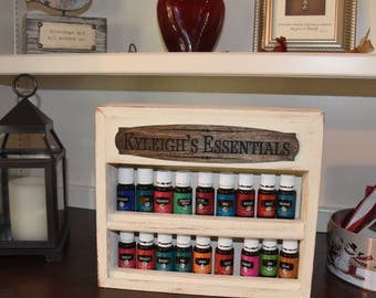 Essential Oil or Nail Polish Customized Wall Rack with Plaque