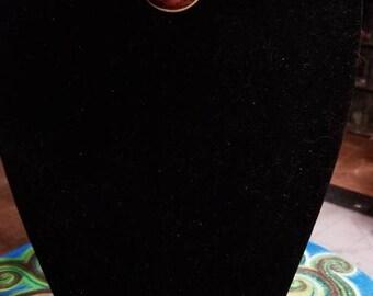 """13 1/2"""" Mahogany Obsidian cabochons choker necklace"""