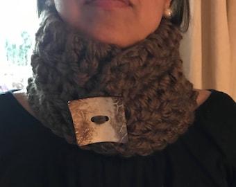 Handmade crochet scarf neck warmer