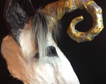 unicorn mask creepy cool  animal mask adult kid unique original imbolc beltane costume party character cosplay pagan fursona horn scary