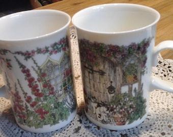 Vintage porcelain DUNOON bone china mug/Mug