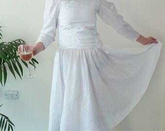 Vintage 80s wedding dress XXS
