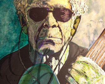 Portrait of Lou Reed Art Print