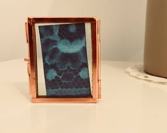 Mini copper Lace Cyanotype Sunprint