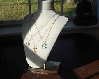 Steampunk Eye Gear Necklace
