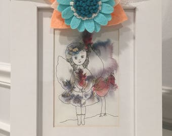 Felt flower headband, floral headband, Headband for photoshoot, Headband for birthday, Gift, Baby headband, Newborn headband, Flower
