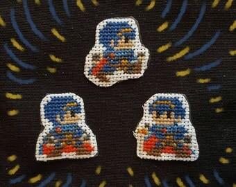 Marth cross stitch patches