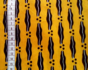 Fat quarter - Wax / Ankara - Yellow