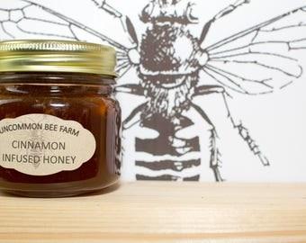 10oz Raw Unfilitered Cinnamon Infused Honey