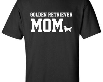 Golden Retriever Dog mom 100% Cotton Graphic Logo Tshirt