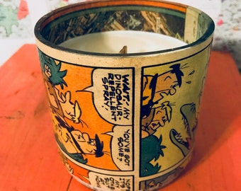 1978 Vintage Flintstones Comics  Hand-Poured Soy Wax Candle