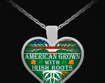 AMERICAN Grown IRISH Roots Necklace