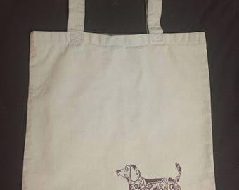 Decorative Dog Tote Bag