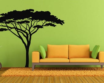 Africa Wall Decal Etsy - Wall decals animalsafrican savannah wall sticker decoration great trees with