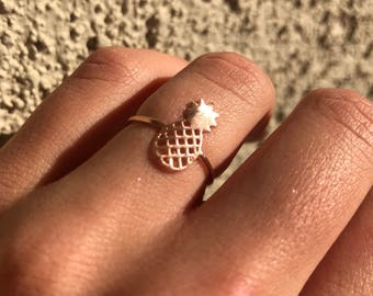 Gold Pineapple Ring, Gold Ring, Tropical Ring, Pineapples, Accessories, Jewelry, Womens Jewelry, Gifts For Her, Rings, Gold RIngs