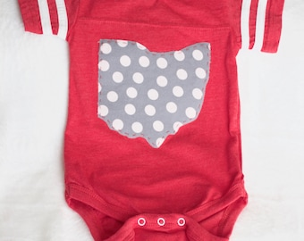 3-6 Month State of Ohio Bodysuit