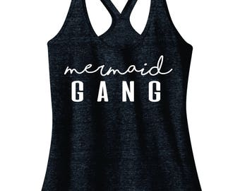 Mermaid Gang - Women's Racerback Tank Top
