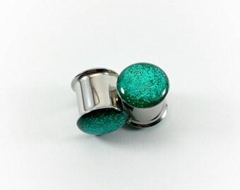 Teal Metallic Glitter Plugs