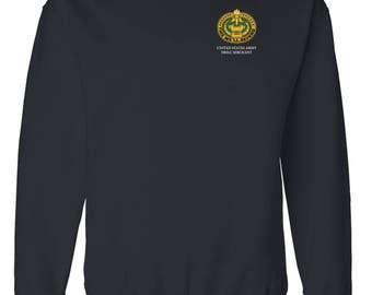 US Army Drill Sergeant Badge Embroidered Sweatshirt-7276