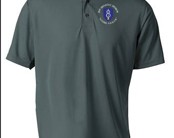 8th Infantry Division Embroidered Moisture Wick Polo Shirt -4077